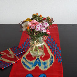 Ikat Table Runner with Placemats