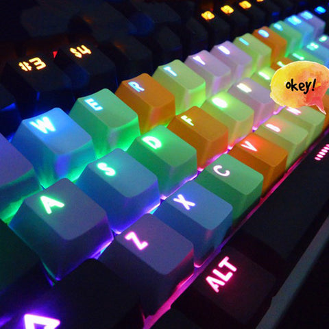 Rainbow Keycaps for Mechanical Keyboard