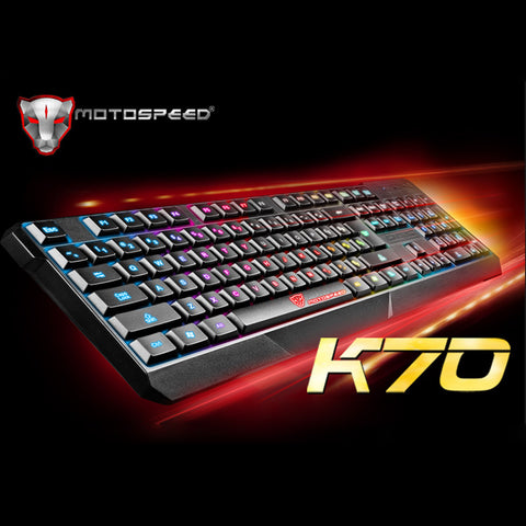 MOTOSPEED Pro Gaming Keyboard with 7 Colors LED Backlit