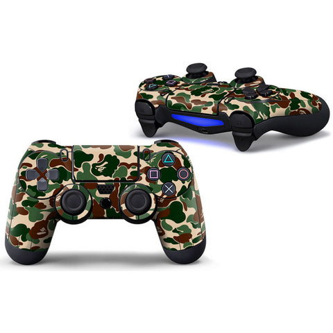 Camo Protective Cover Sticker For PS4 Controller