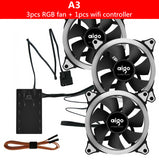 3pcs Set RGB Case Cooling Fan 120mm With Wifi Controller