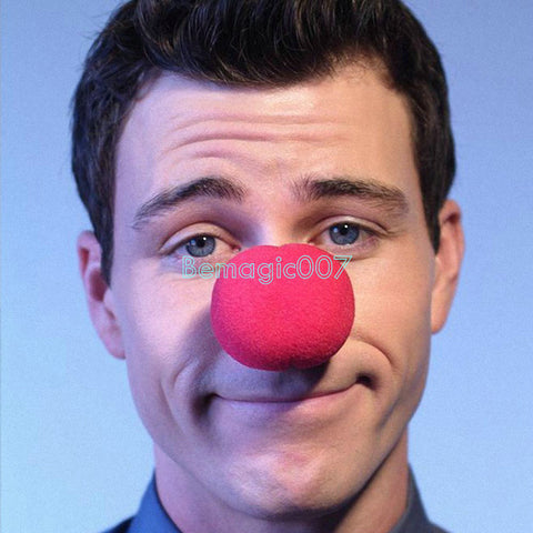 5 pcs 2 inches sponge clown nose - red 5 cm in diameter --Magic Accessories - Bemagic