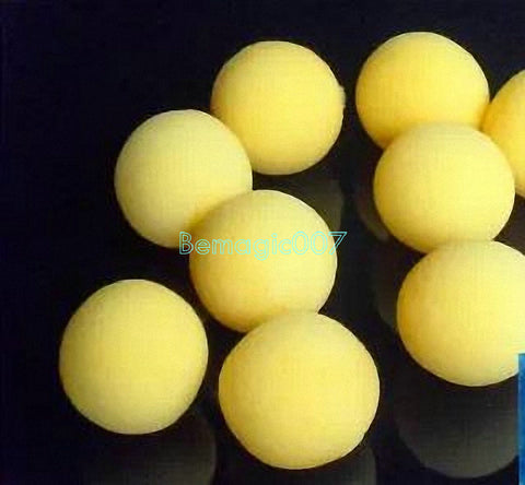 20 pcs/lot 4.5cm Super Soft Sponge Balls(Yellow) - Close Up Magic - Bemagic