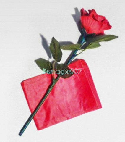 Auto Silk To Rose - Folding Rose(Red)  -- Stage Magic - Bemagic