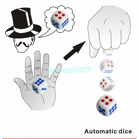 Automatic Dice -- Mentalism Magic - Bemagic