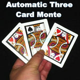 Automatic Three Card Monte (Poker Size,8.8x6.4cm) -- Stage Magic - Bemagic
