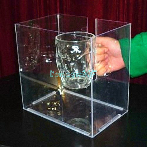 Bottle burst burst Cup special - plexiglass cover -- Mentalism Magic - Bemagic