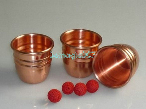 Brass (Copper)  Cups and Balls - Close Up Magic - Bemagic