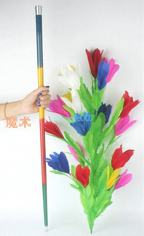 Cane to Flower -- Silk & Cane Magic - Bemagic