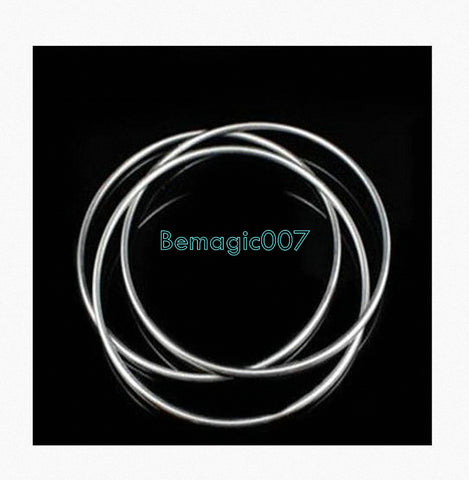 Chinese Linking Rings - Stage  3 rings  30 cm (STAINLESS STEEL)  -- Stage Magic - Bemagic