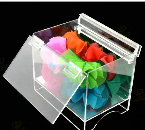 Clear Flower Chest Mini -- Silk & Cane Magic - Bemagic