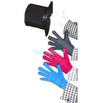 Color Changing Gloves -- Silk & Cane Magic - Bemagic