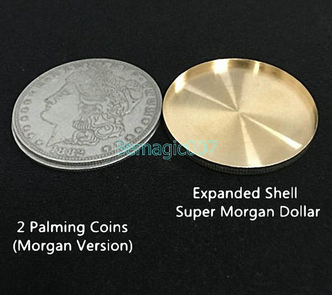 2 pcs Expanded Shell For Morgan Dollar -- Stage Magic - Bemagic