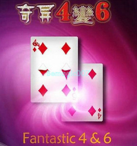 Fantastic 4 & 6 - Moving Point   -  Card Trick Magic - Bemagic