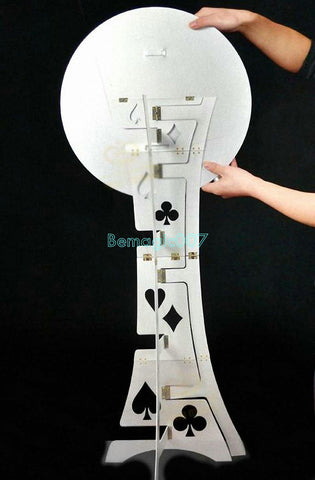 Folding Table Metal (Circular Plate)  -- Stage Magic - Bemagic