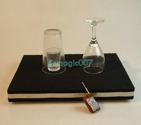 Glass Breaking Table And Coin Into Glass Mat -- Stage Magic - Bemagic