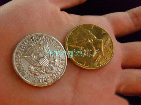2 pcs/lot Gold&Silver Coin - Coin&Money Magic - Bemagic