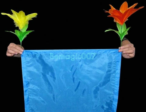 Handkerchief Appearing Two Flowers -- Stage Magic - Bemagic