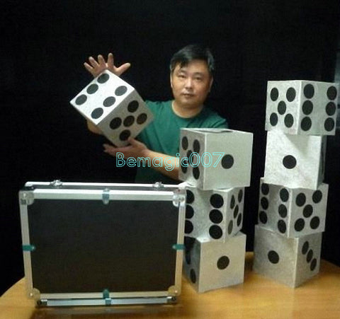 Large Dice Production Case  -- Stage Magic - Bemagic