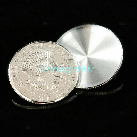 2 pcs/lot Larger Shell Coin (Half Dollar) - Coin&Money Magic - Bemagic