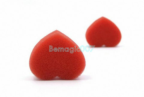 3 pcs/lot Magic Hearts - Double Red Sponge  - Close Up Magic - Bemagic