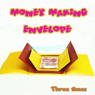 Money Making Envelope (Three times) - Coin&Money Magic - Bemagic