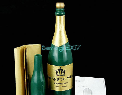 New Vanishing Champagne Bottle  - LATEX -- Stage Magic - Bemagic