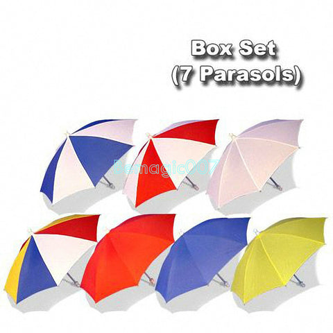 Parasol Box Set (7 Parasols)- Parasol Production Magic - Bemagic