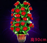 Remote-Control Blooming Flower Bush -- Stage Magic - Bemagic