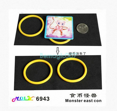 2 pcs/lot Ring And Coin Vanish - Close Up Magic - Bemagic