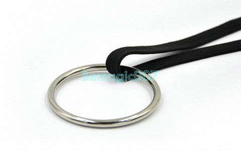 2 pcs/lot  Ring And Rope Deluxe Iron Chain and Ring - Close Up Magic - Bemagic