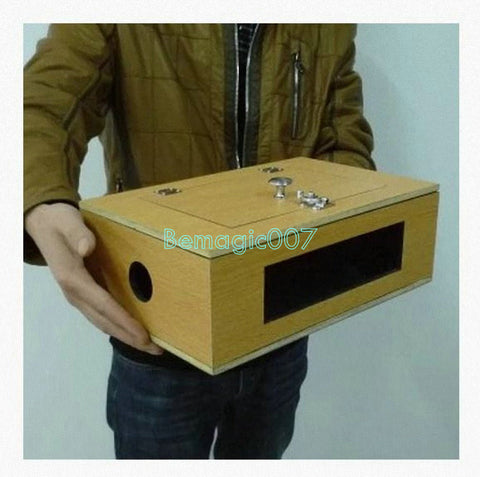 See Thru Tip-Over Box (Wooden)  -- Stage Magic - Bemagic