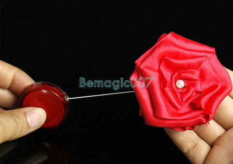 Silk Melt To Rose - Rose To Silk -- Silk & Cane Magic - Bemagic