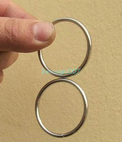 2 pcs Super Two Rings Trick - Close Up Magic - Bemagic