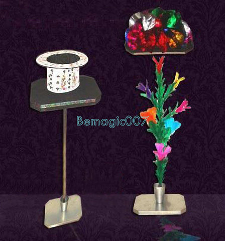 Table To Feather Flower And Mylar Flower -- Stage Magic - Bemagic