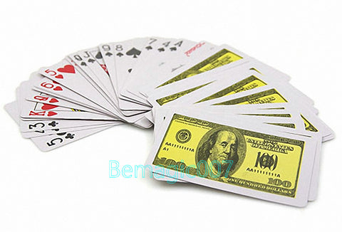 Ultrathin Plastic Playing Cards (Dollar) -- Card Trick Magic