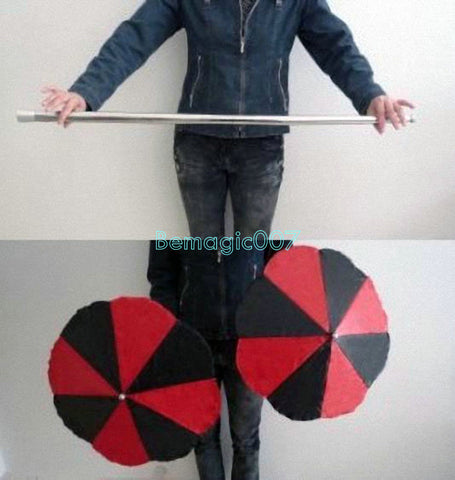 Wand Into Two Umbrellas - Parasol Production Magic - Bemagic