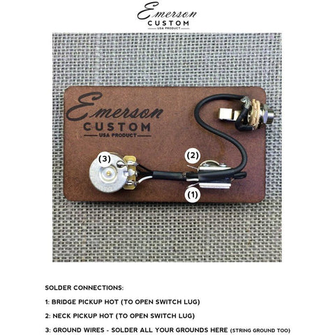 [SCHEMATICS_4LK]  CABRONITA TELECASTER PREWIRED KIT – Emerson Custom | Cabronita Wiring Diagram |  | Emerson Custom