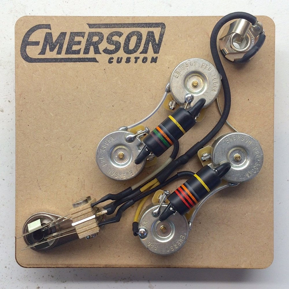 Gibson Sg Wiring Harness Everything About Diagram Tlr200 Prewired Kit Emerson Custom Rh Emersoncustom Com Standard Hh Stratocaster