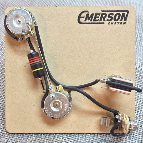 PREWIRED KITS – Emerson Custom on gibson les paul wiring harness, fender stratocaster wiring harness, p bass wiring harness, les paul custom wiring harness, tele wiring harness, fender jaguar wiring harness,