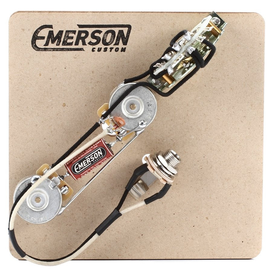 3 way telecaster prewired kit emerson custom rh emersoncustom com Wiring Harness Diagram emerson les paul wiring harness review