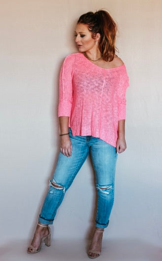 Camille Hot Pink Sweater