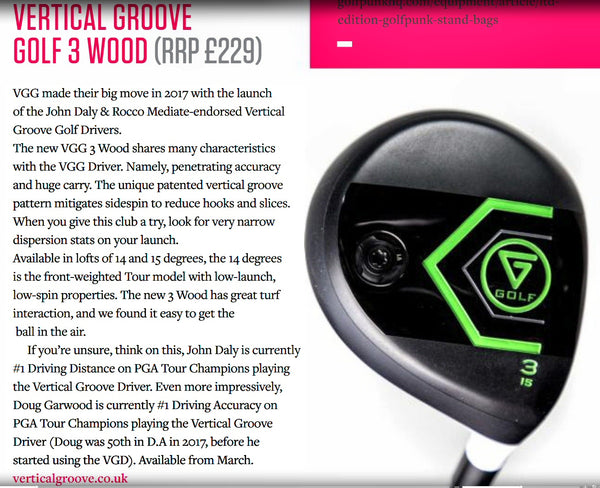 Vertical Groove Golf in Golf Punk magazine, Feb 2018