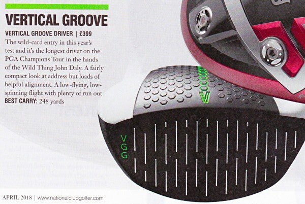 Vertical Groove Driver in National Club Golfer magazine April 2018