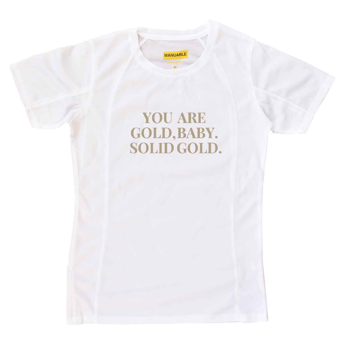 Playera Dry Fit You Are Gold - Gal