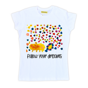 Playera Follow Your Dreams - Gal