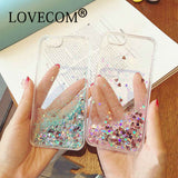 Love Heart Stars Glitter Stars Dynamic Liquid Quicksand Case For iPhone 5 5S SE 6 6S Plus 7 7 Plus
