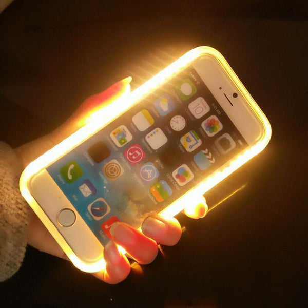 Selfie Light Up Case in Multiple Colors For iPhone: 7 Plus, 7, 6 Plus, & 6