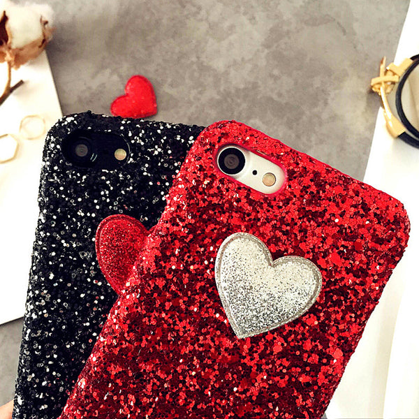 Love Heart Case For iPhone: 7 6 6S Plus SE 5 5S