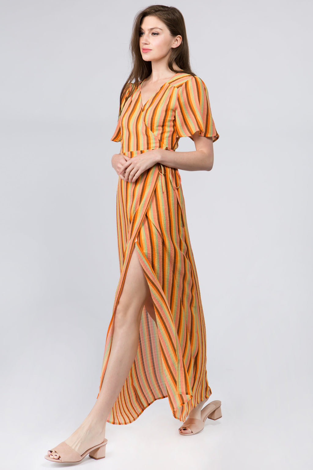 TANGERINE STRIPED DRESS